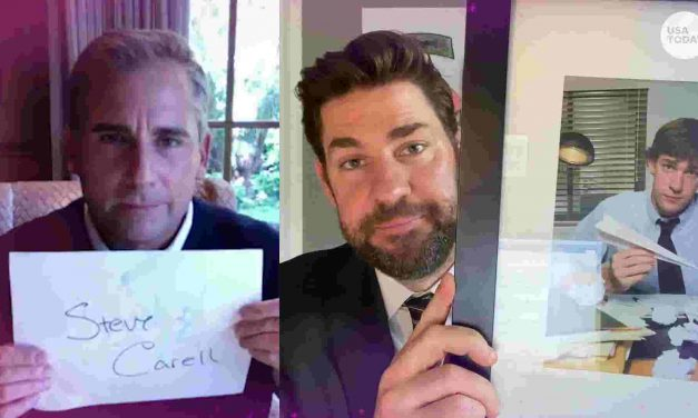 John Krasinski welcomes former 'Office' TV boss Steve Carell to new YouTube show