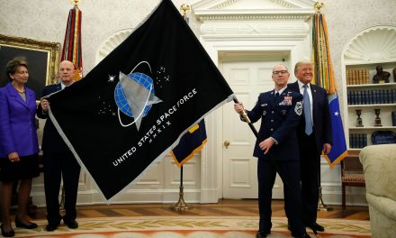 Trump unveils Space Force flag, Pentagon says his 'super duper' missiles are hypersonic weapons