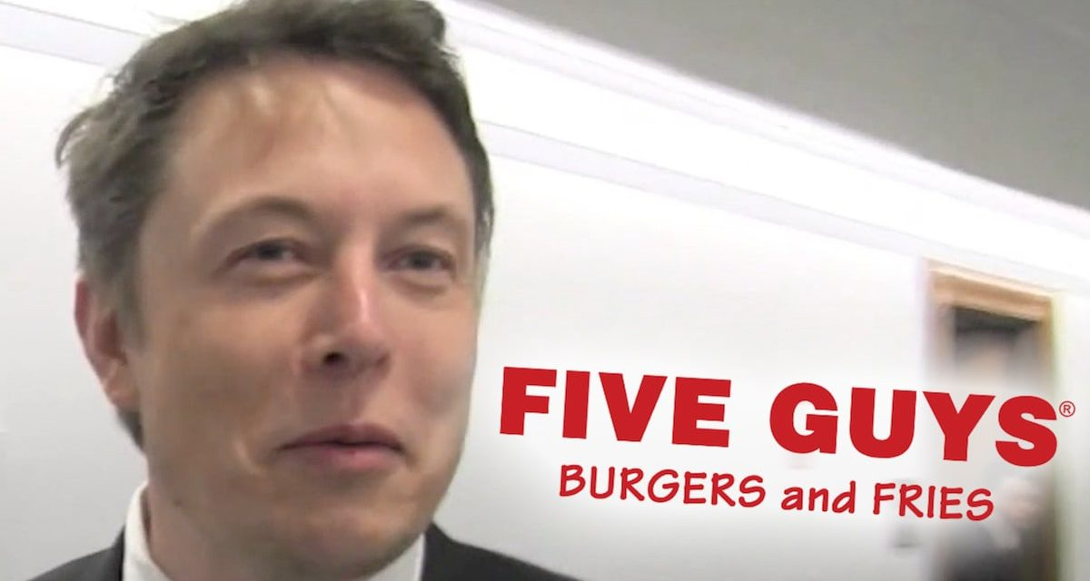 Elon Musk Grabbed Five Guys Burger After SpaceX Launch Postponement