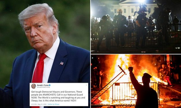 Trump bashed Democrat-run cities burned by rioters and demands more National Guard be activated